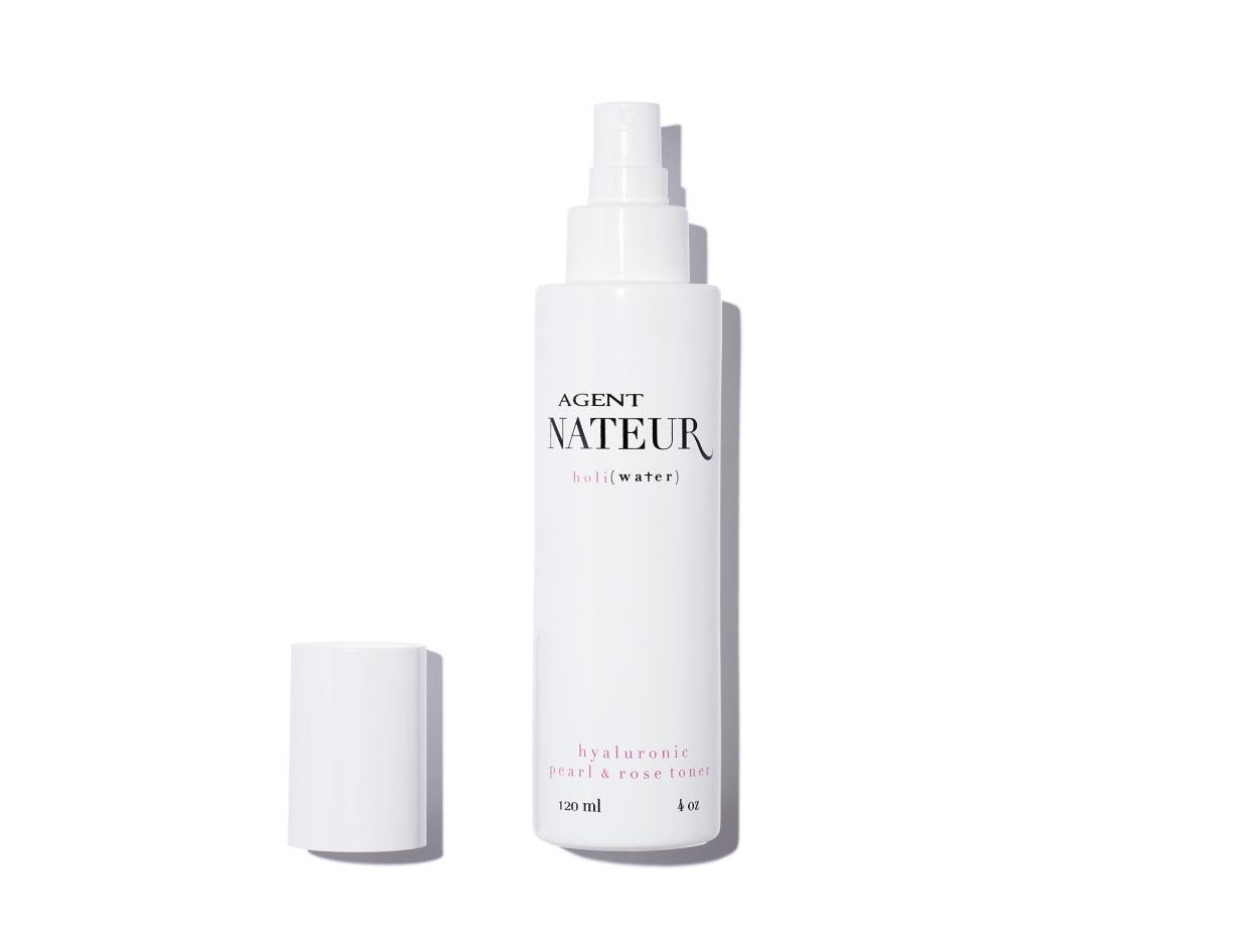 Agent Nateur H O L I ( W A T E R ) Hyaluronic Pearl & Rose Toner | Shop now on @violetgrey https://www.violetgrey.com/product/holi-water-pearl-rose-hyaluronic-toner/AGE-1516912006164