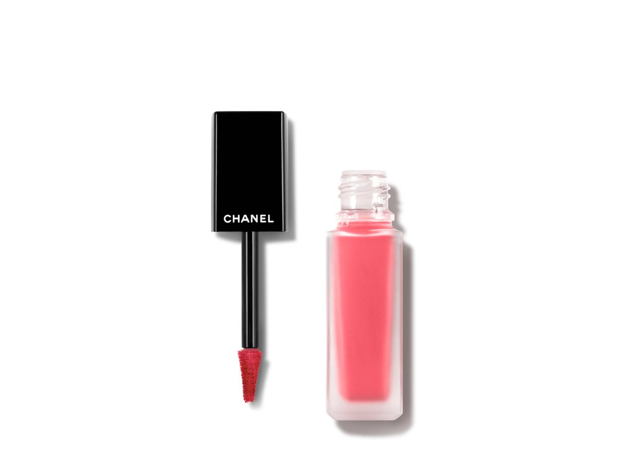 Chanel Rouge Allure Ink Matte Liquid Lip Colour in 144 Vivant | Shop now on @violetgrey https://www.violetgrey.com/product/rouge-allure-ink-matte-liquid-lip-colour/CHN-165144