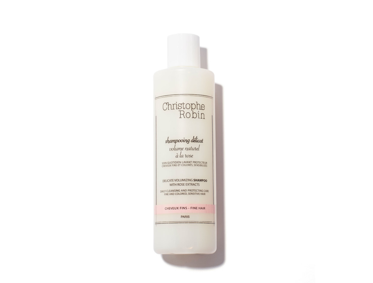 Christophe Robin Delicate Volumizing Shampoo With Rose Extracts in 8.33 oz | Shop now on @violetgrey https://www.violetgrey.com/product/delicate-volumizing-shampoo-with-rose-extracts/CHR-SV250