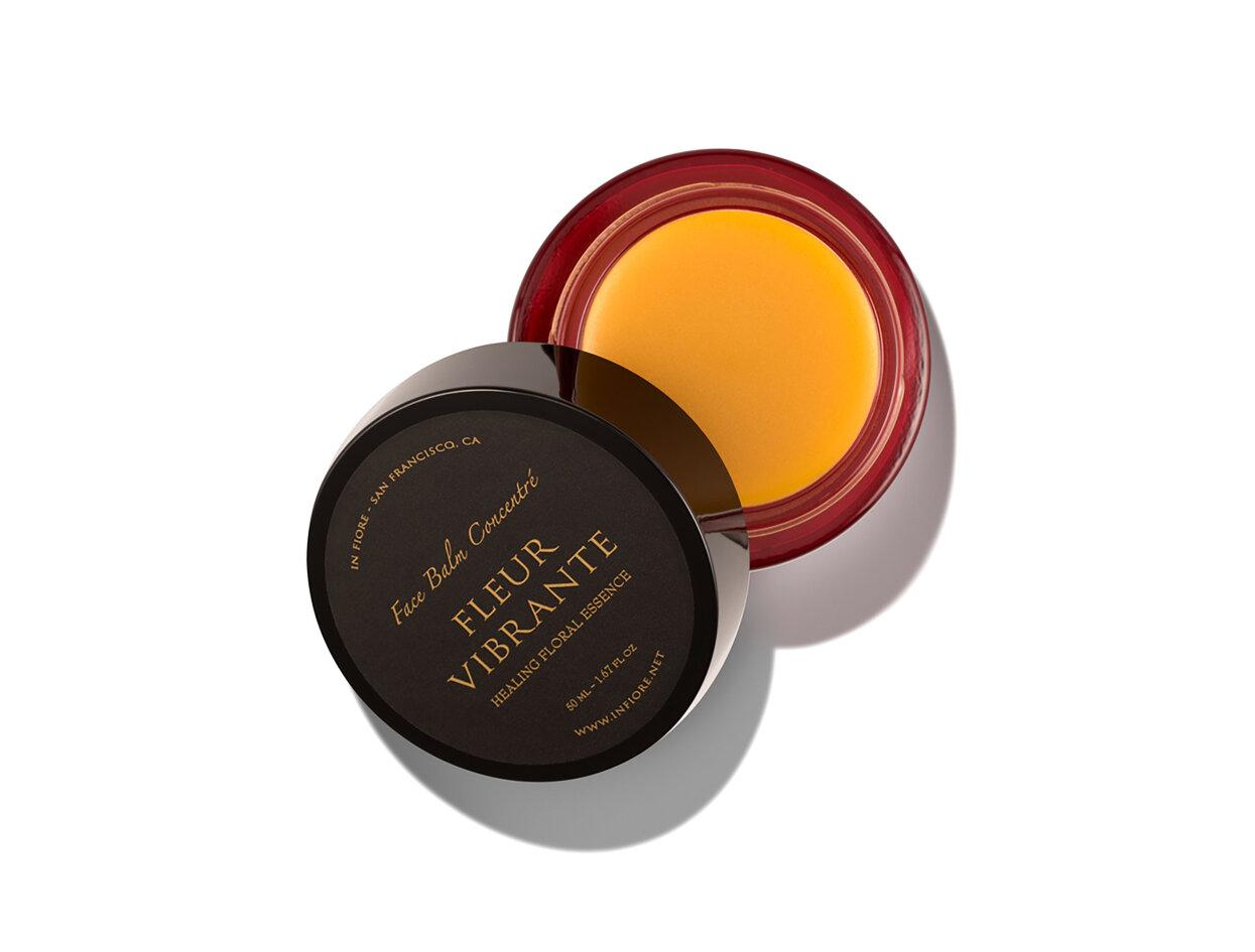 In Fiore FLEUR VIBRANTE Healing Floral Essence / Face Balm Concentré | Shop now on @violetgrey https://www.violetgrey.com/product/fleur-vibrante-healing-floral-essence-slash-face-balm-concentre/INF-FV-BALM-50