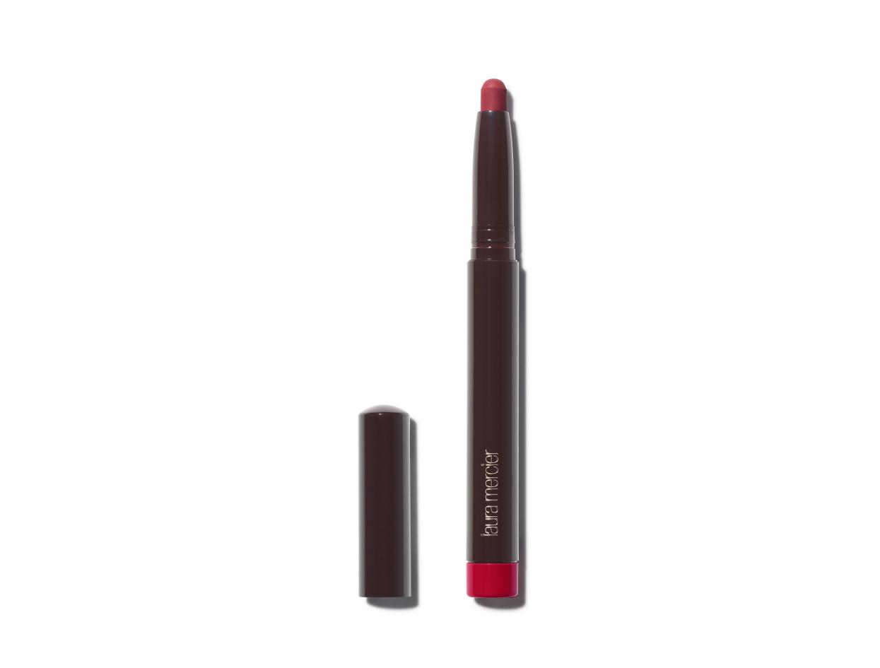 Laura Mercier Velour Extreme Matte Lipstick in Hot | Shop now on @violetgrey https://www.violetgrey.com/product/velour-extreme-matte-lipstick/LMR-12701658
