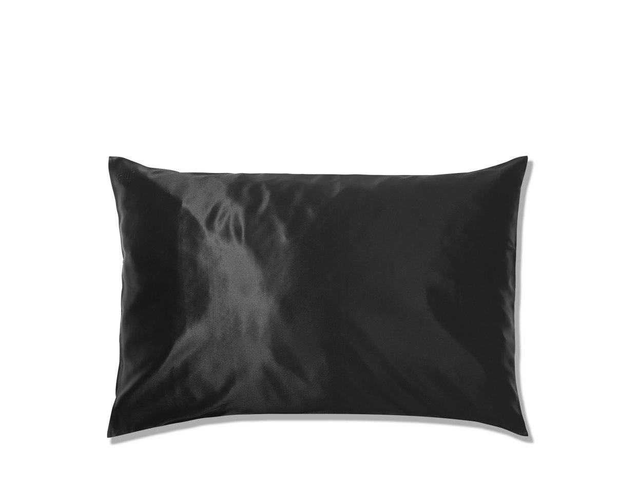 Slip Silk Queen Pillowcase in Black | Shop now on @violetgrey https://www.violetgrey.com/product/silk-queen-pillowcase/SLP-853218006018