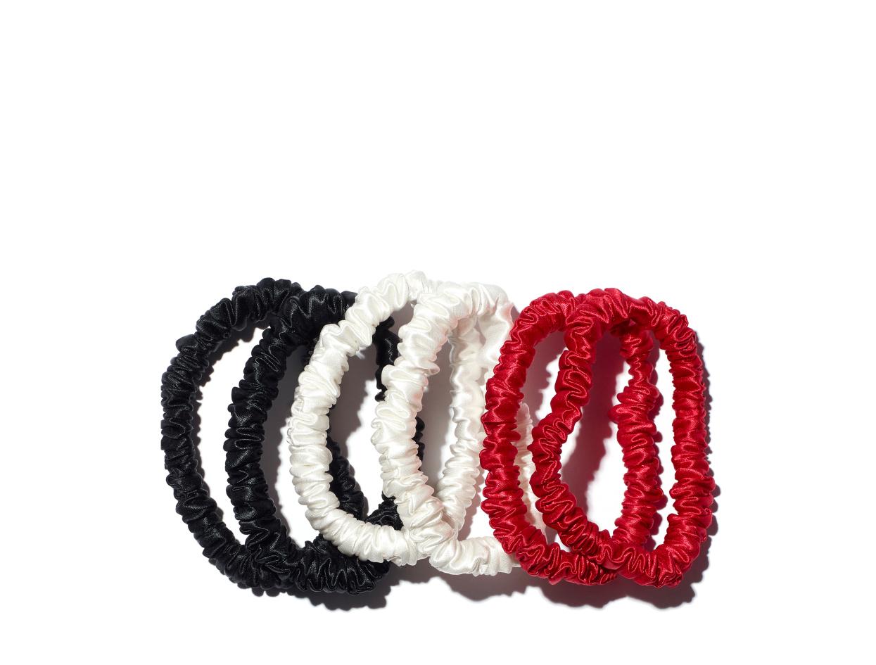 Slip Skinny Scrunchies - 6 Pack in 6-pack   Shop now on @violetgrey https://www.violetgrey.com/product/silk-skinny-scrunchies/SLP-857032008791