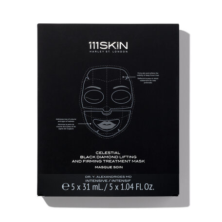 111SKIN Celestial Black Diamond Lifting and Firming Face Mask - 4 masks/pack | @violetgrey