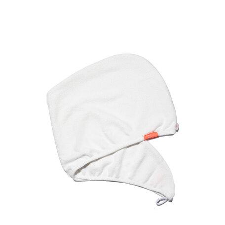 AQUIS Rapid Dry Hair Turban - White | @violetgrey