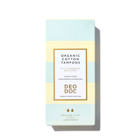 DEODOC Organic Cotton Tampons - Regular | @violetgrey