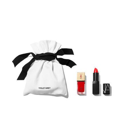 VIOLET GREY GIFTS The Crimson Red Matching Lips & Tips Set | @violetgrey