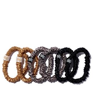 SLIP Skinny Scrunchies - 6 Pack - Leopard, Gold, Black | @violetgrey