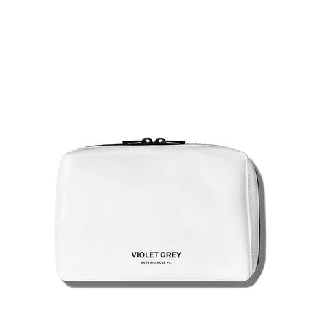 VIOLET GREY Small Makeup Bag - White   @violetgrey