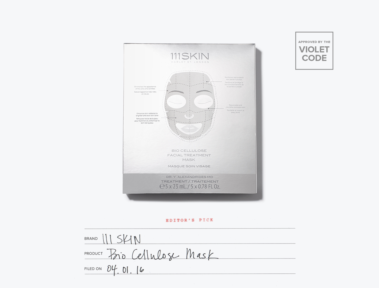 111Skin Bio Cellulose Facial Treatment Mask | The Violet Files