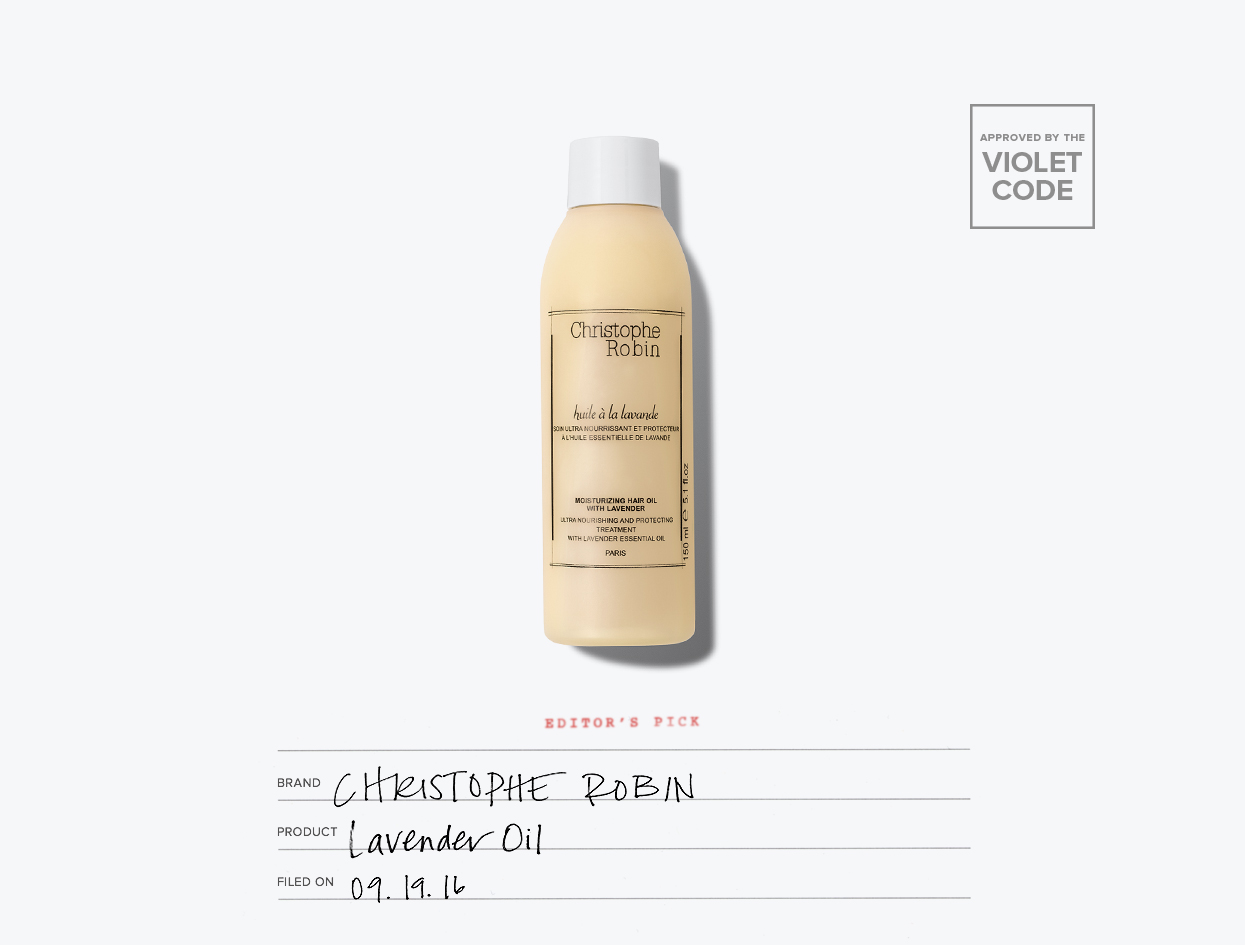 Christophe Robin Moisturizing Hair Oil with Lavender | The Violet Files