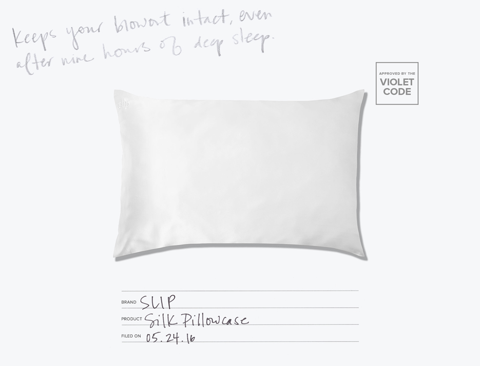 Slip Silk Pillowcase The Violet Files Violet Grey