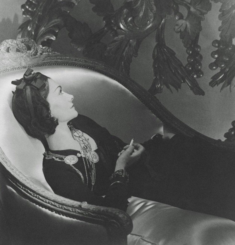 Coco Chanel Rules of Engagement: CHANEL SMOKING ON A DIVAN, 1937 