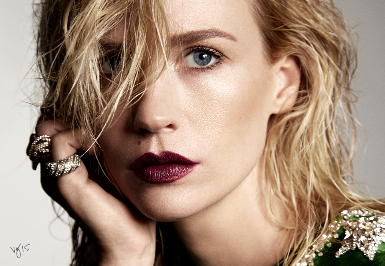 BEAUTY TEST: JANUARY JONES  |  The actress seamlessly transforms into 6 different characters for a series of before-and-after beauty tests for THE VIOLET FILES