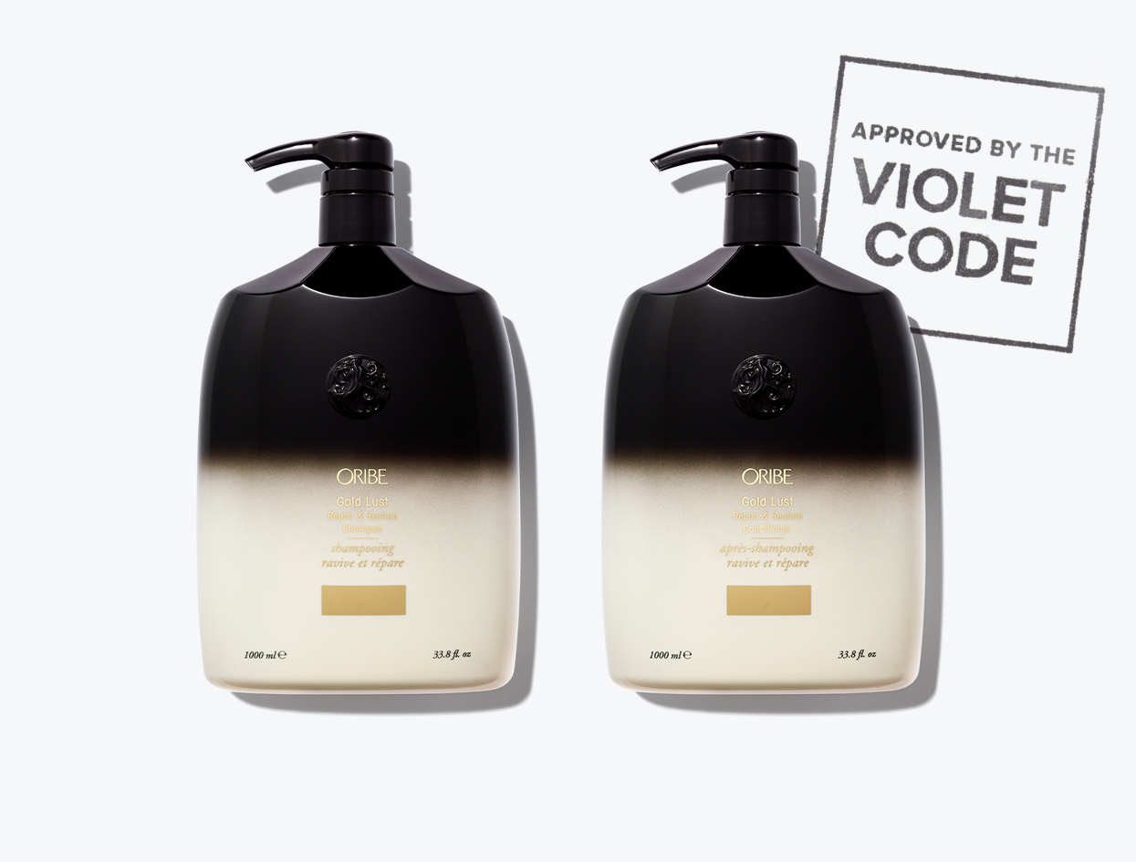 Oribe Gold Lust Shampoo and Conditioner Product Review | THE VIOLET FILES
