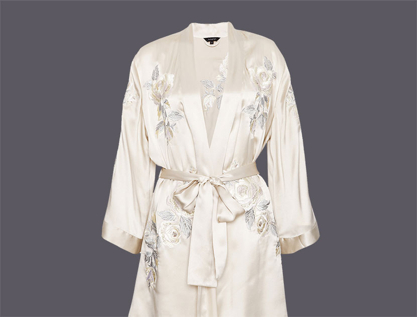Necessary Négligée: Silk Kimono Dressing Gown, Rosie Huntington-Whiteley for Autograph  |  #VioletGrey, The Industry's Beauty Edit