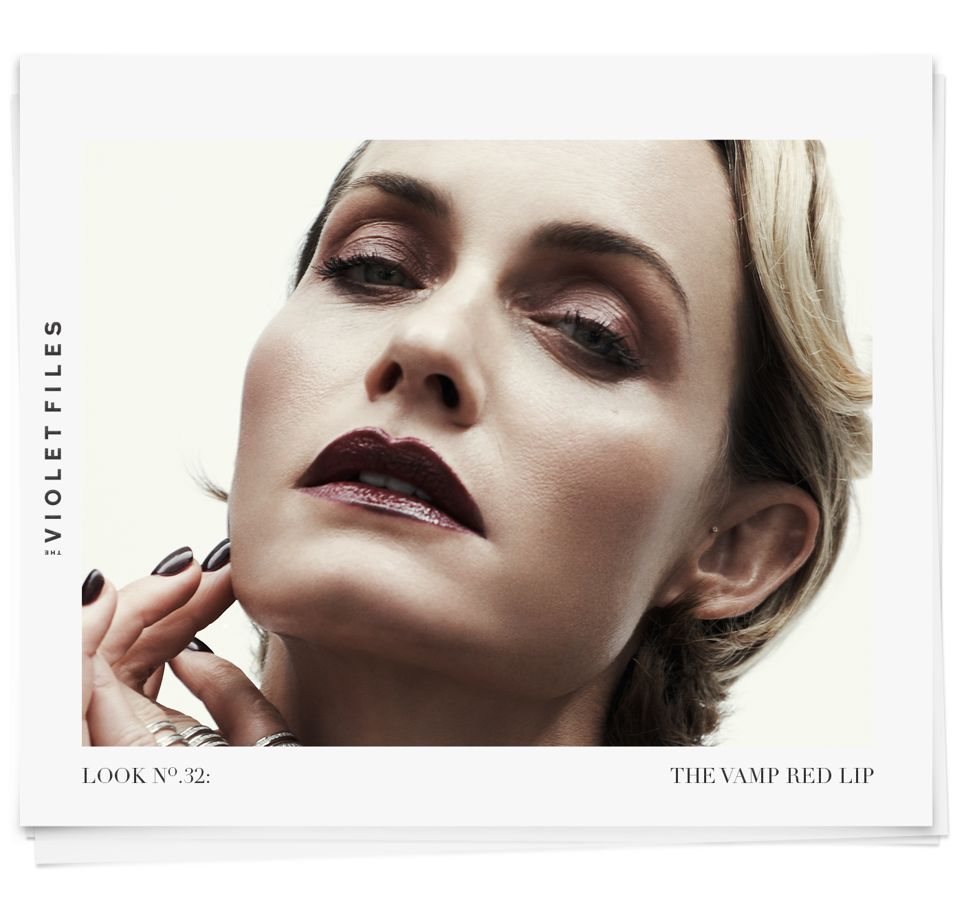 The 1920s-Inspired Vamp Red Lip on Amber Valletta | The Violet Files | Makeup by Rachel Goodwin | @violetgrey