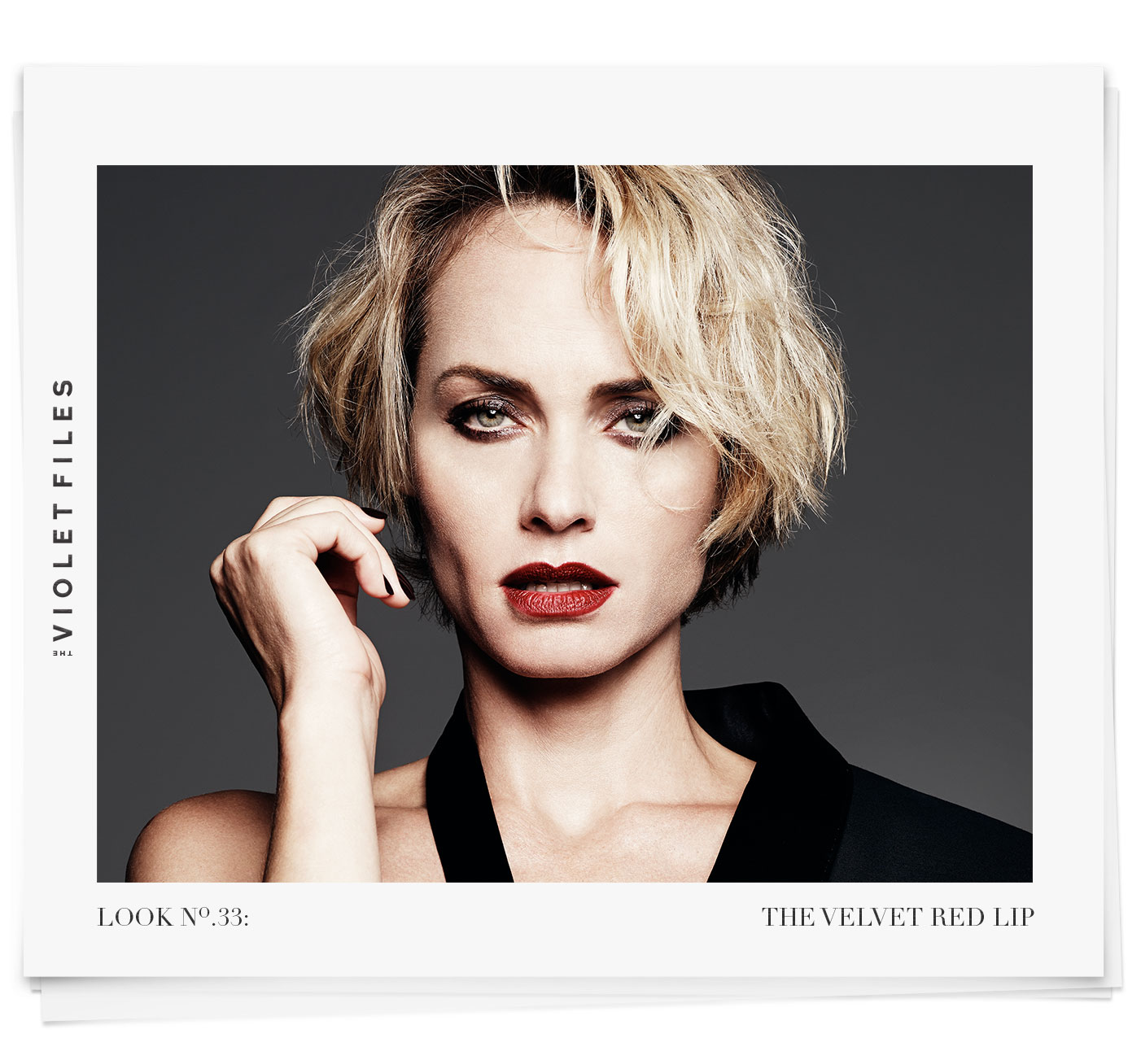 90s Grunge Red Lip on Amber Valletta | The Violet Files | Makeup by Rachel Goodwin | @violetgrey