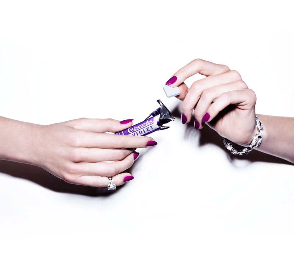 Nails by Karen Gutierrez and Model Jennifer Missoni in A Violet For The Red Carpet / Original Look Photography by Stevie and Mada for THE VIOLET FILES on VIOLET GREY