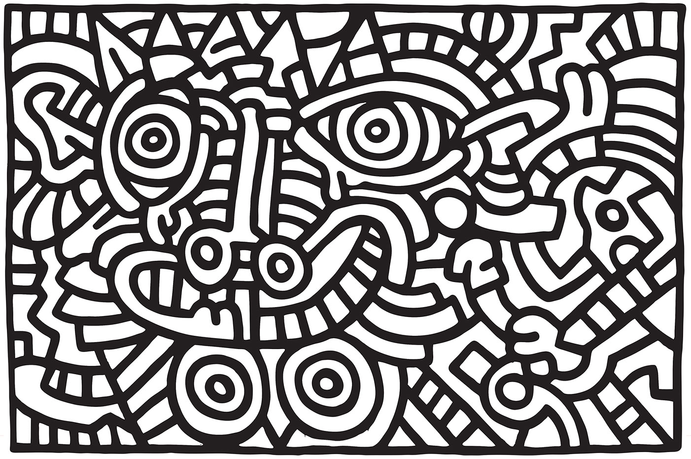 Keith Haring | Untitled, 1986 | Charitable Gifting | The Violet Files | @violetgrey