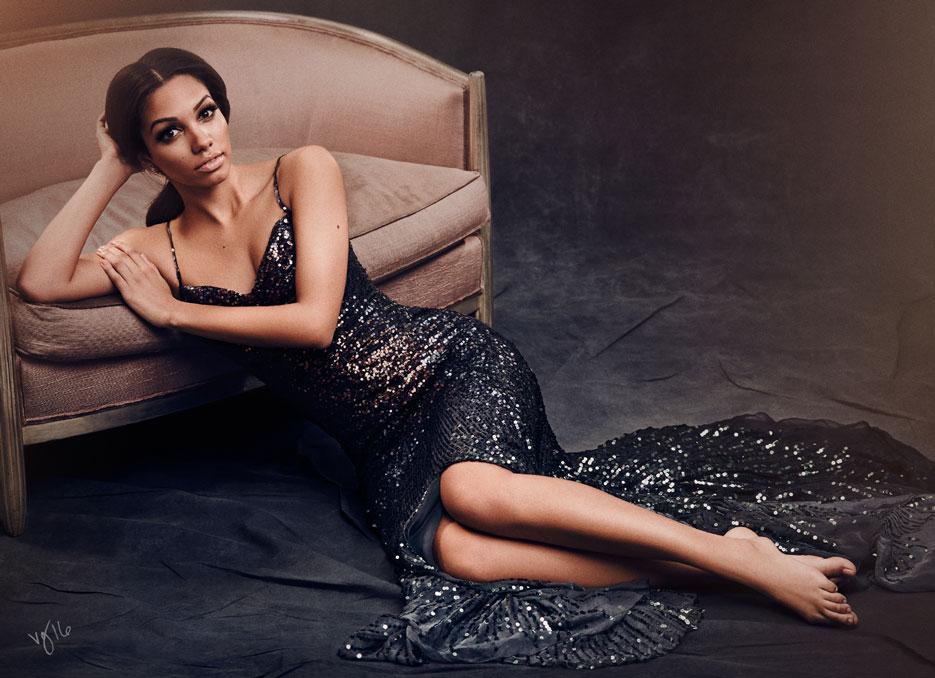 Miss Golden Globe Corinne Foxx | The Violet Files | @violetgrey