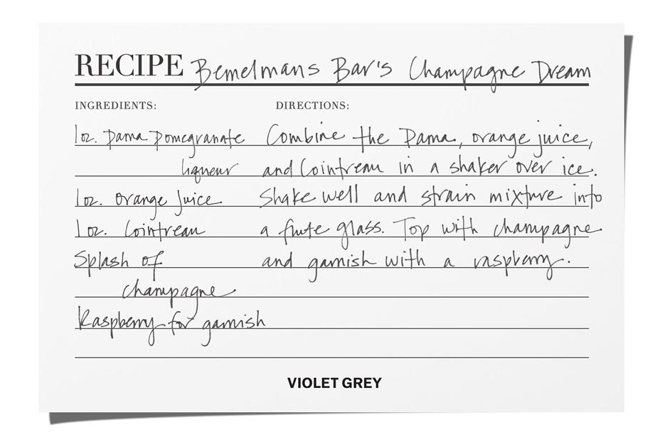Bemelmans Bar's Champagne Cocktail | The Violet Files | @violetgrey