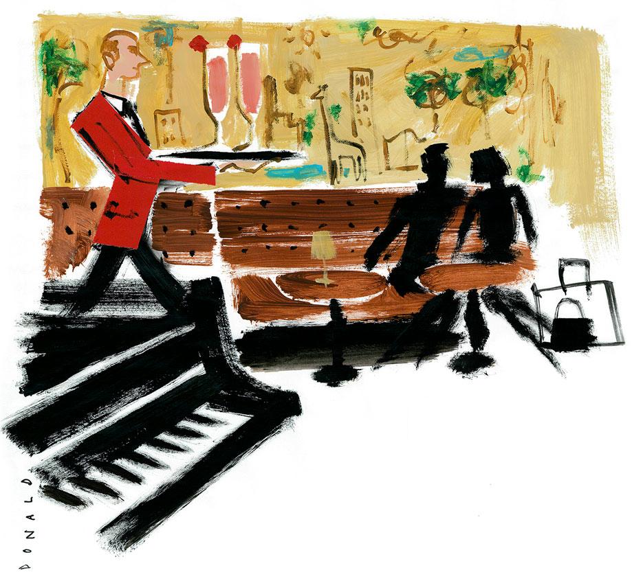 The Midnight Champagne Cocktail | Bemelmans Bar | The Violet Files | @violetgrey