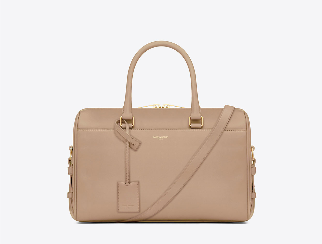 Saint Laurent Classic Duffle 6 in Powder | Necessary Carryall | Violet Must
