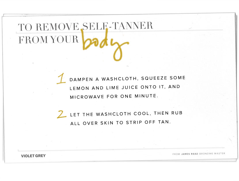Lessons on Self-tanner Removal | THE VIOLET FILES | @violetgrey